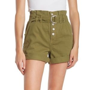 Free People Cindy Utility Shorts with Belt - Sage